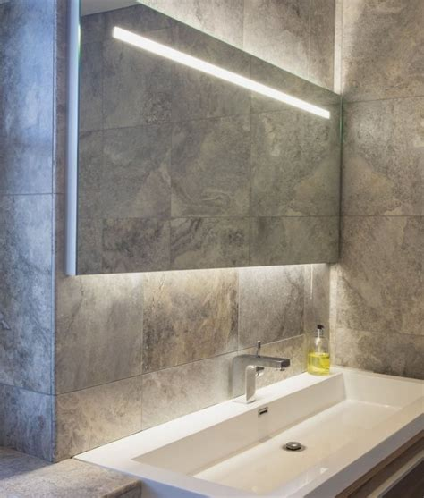 illuminated bathroom mirrors wide and illuminated bathroom mirror with backlit effect