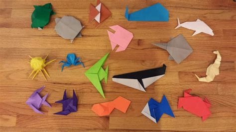 origami sea animals chemknits origami sea creatures adventures of a knitter