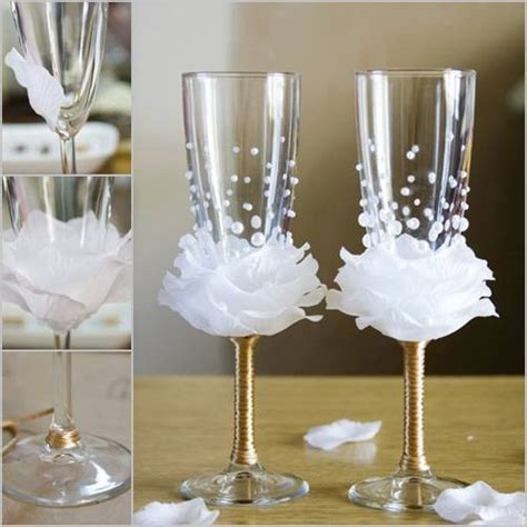 wonderful diy wine glasses decoration with flowers and