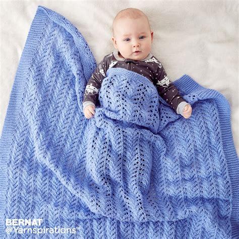 bernat baby knitting patterns lacy knit baby blanket yarnspirations goodknit kisses