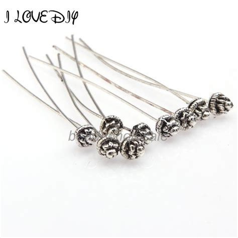 how to make headpins for jewelry 20pcs classical style antiqued silver gold pins