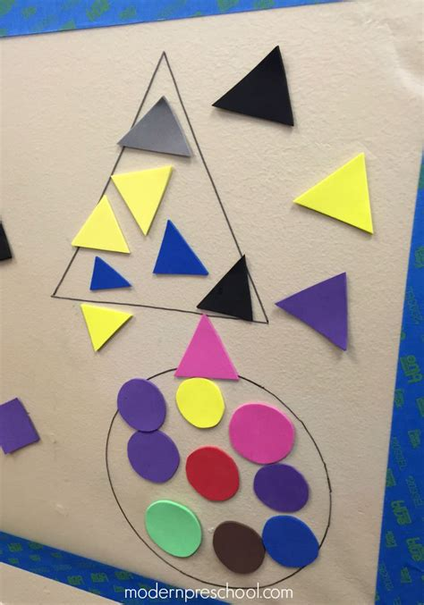 rectangle crafts for shape sort sticky wall