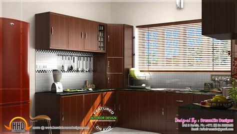 modular kitchen interior kitchen interior dining area design home kerala plans