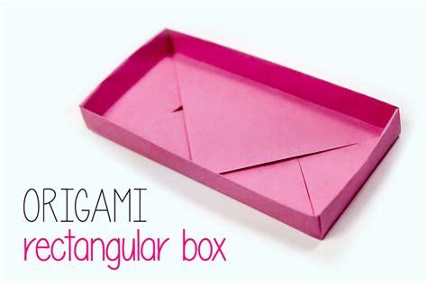 origami box rectangle rectangular origami box