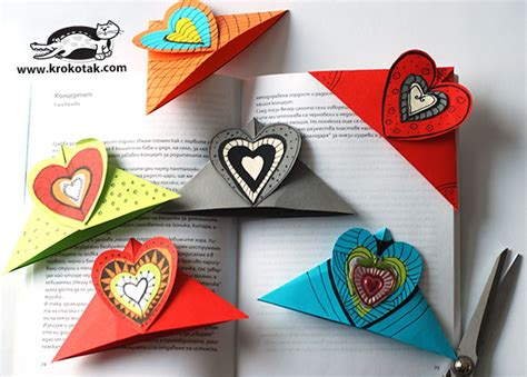 How To Make Halloween Decorations At Home krokotak heart bookmarks