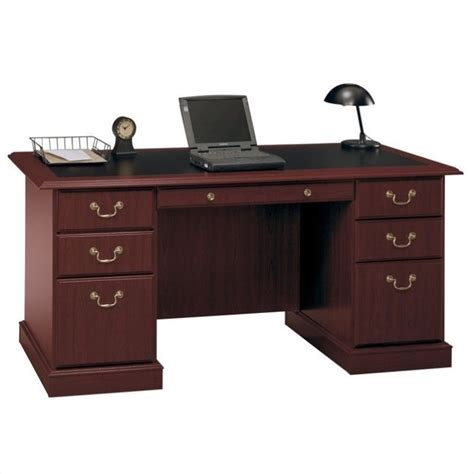 home office wood desk saratoga executive home office wood managers desk in