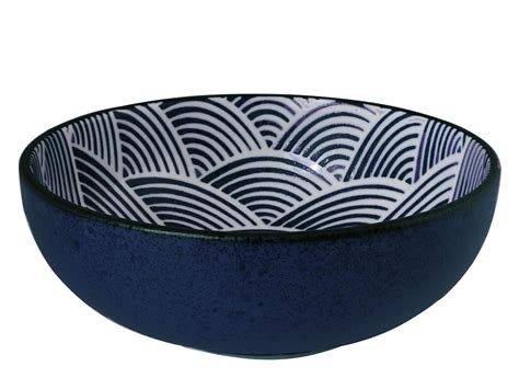 Black Kitchen Canisters Sets modern blue and white japanese wave flat curved japanese