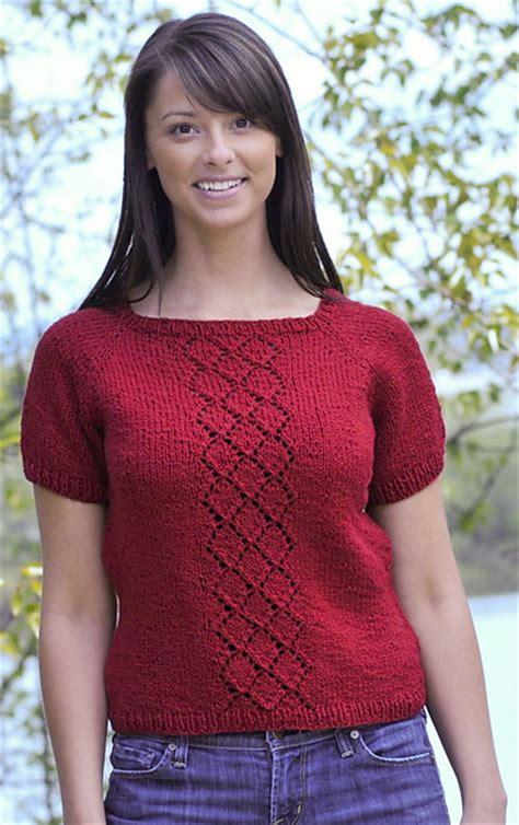 t shirt knitting pattern knitting patterns galore summer lace panel t shirt