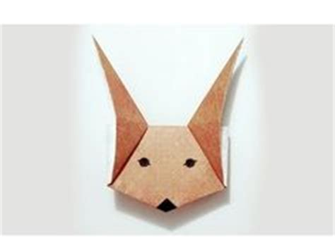 origami fox mask 1000 images about fox on origami foxes and