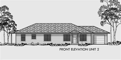duplex floor plans single story single story duplex house plan corner lot duplex plans d 392