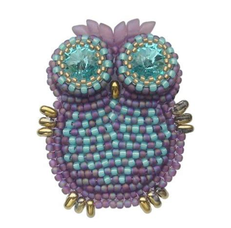 owl pony bead pattern beaded owl seed bead tutorials seed bead tutorials