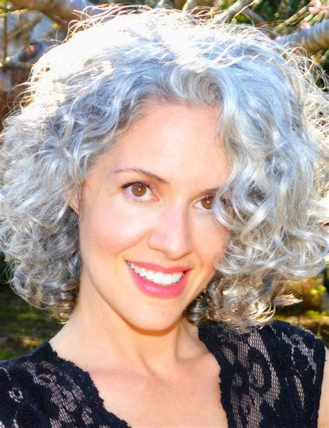 haircut for thick frizzy gray hair short curly hairstyles for gray hair fashion hair style