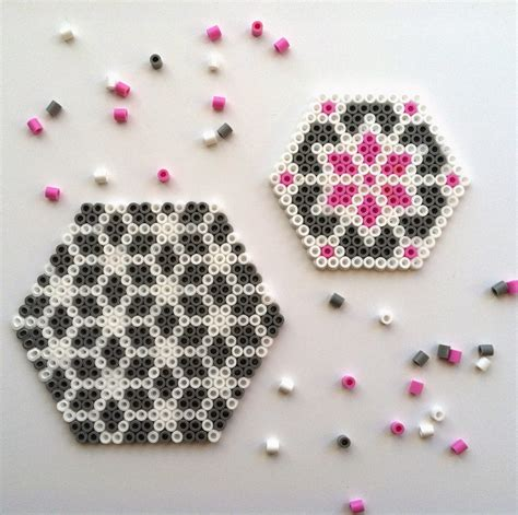 what to make with perler harvesting hart diy pretty perler hama bead coaster tutorial
