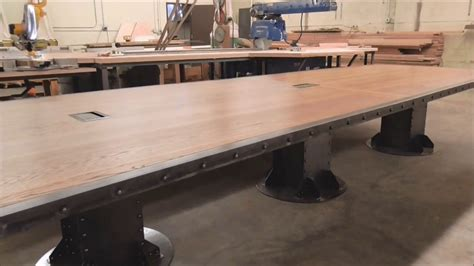 vintage industrial desk vintage industrial desk and conference table