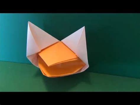 origami talking fox しゃべるきつね 折り紙 quot talking fox quot origami