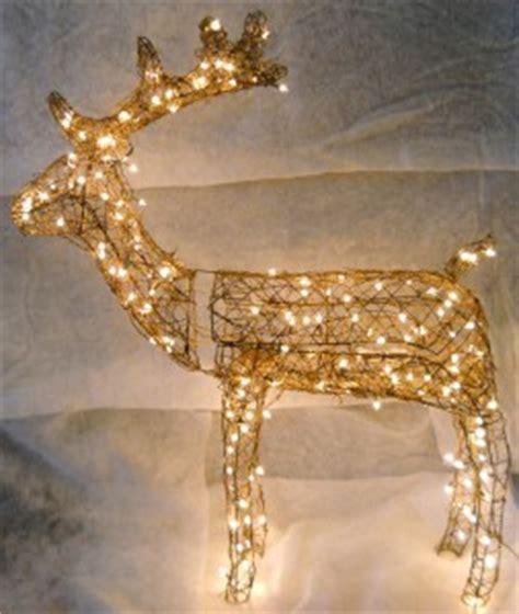 lighted grapevine deer grapevine animated buck reindeer lighted deer yard