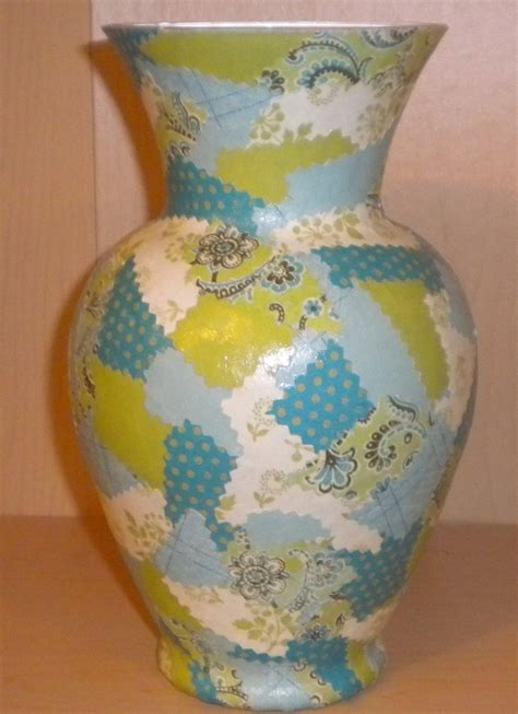 decoupage on glass vase decoupage vase decoupage projects