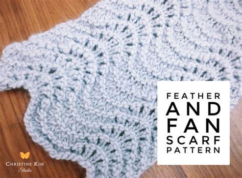 feather and fan knitting pattern knitting pattern feather fan lace scarf