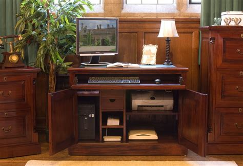 hideaway desks home office nara solid mahogany furniture home office hideaway
