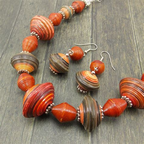 Sneak Peek A New Rwandan Paper Bead Necklace And Earring