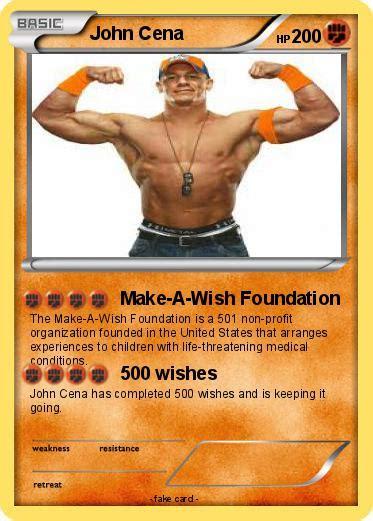 make a wish foundation cards pok 233 mon cena 2039 2039 make a wish foundation my