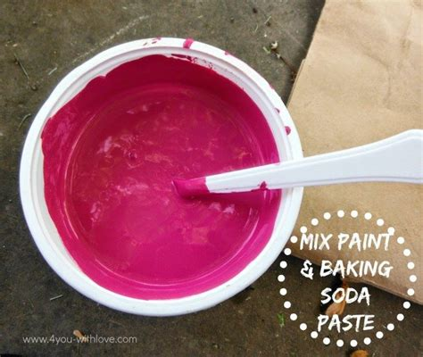 diy chalk paint made with baking soda diy chalk paint the ny family part 2