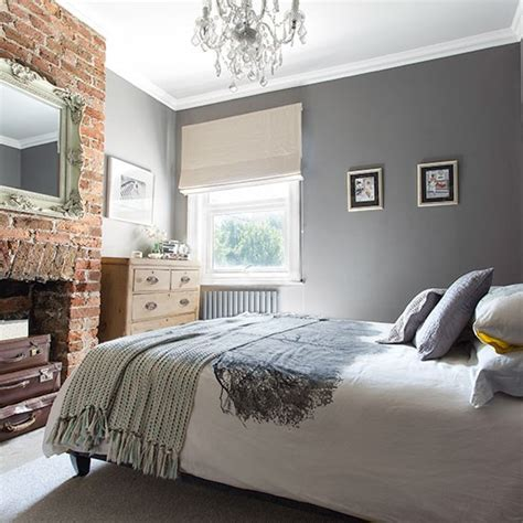 grey wall bedroom grey bedroom with brick fireplace 20 gorgeous grey