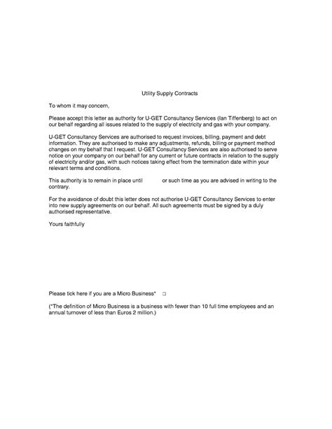 Authorization Letter Sample For Electric Bill energy bills u get consultancy services