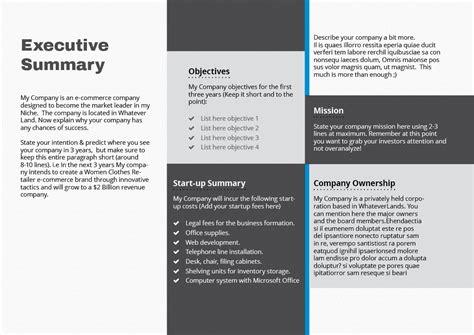 landscape business plan design business plan template elevator