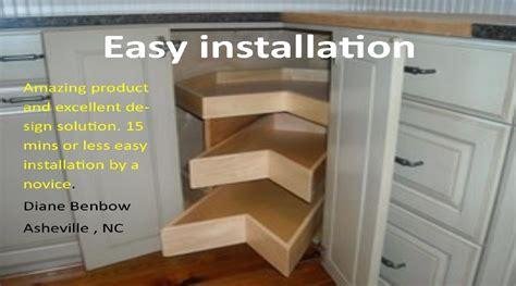 corner kitchen cabinet solutions kornerking next generation corner cabinet solution