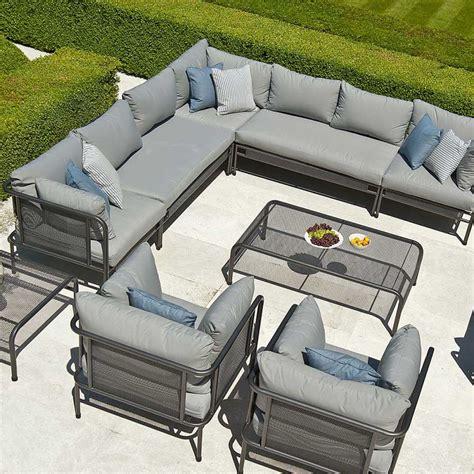 canap 233 de jardin avec coussins haut de gamme en acier pour deux personnes par