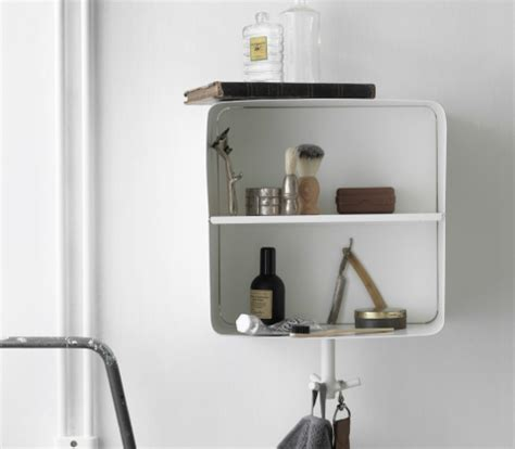 bathroom shelving ikea a white wall shelf in powder coated steel with a hook for