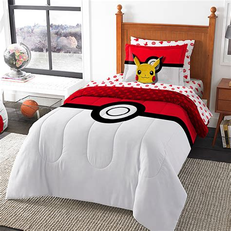 bedding for a bed bed in a bag pok 233 mon comforter sheets and pillow