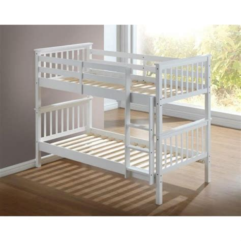 bunk beds white artisan white wooden bunk bed frame children bunk bed