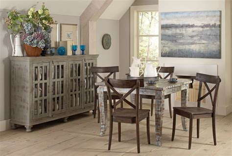 square dining room sets artisan painted square dining room set from largo