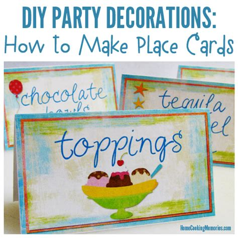 make place cards diy decorations place cards table cards home
