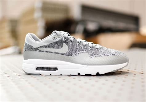 air max fly knit nike air max 1 flyknit wolf grey sneakernews