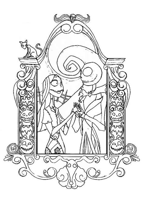 tim burton s the nightmare before coloring book for everybody 16 best images about nightmare before colouring