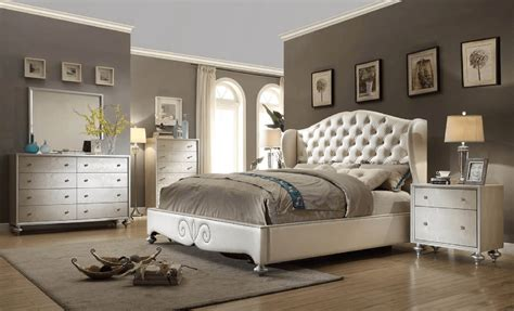 parisian bedroom furniture pearl 2 drawer nightstand