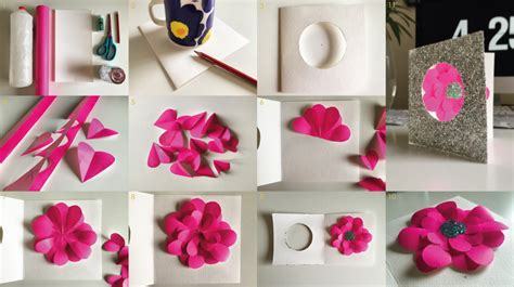 how to make flowers for cards s day make paper flower greetings card the curve