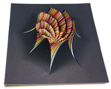 3d construction paper crafts paper sculpture by jen stark room at the top