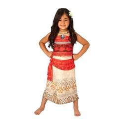 disney moana deluxe girls movie costume with 3d necklace s