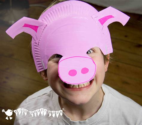paper plate mask craft make a paper plate pig mask craft room