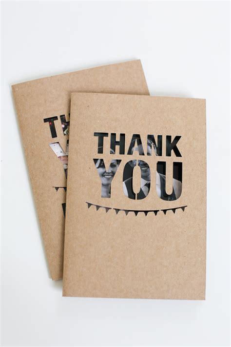 ideas for thank you cards unique wedding photo thank you card diy ideas