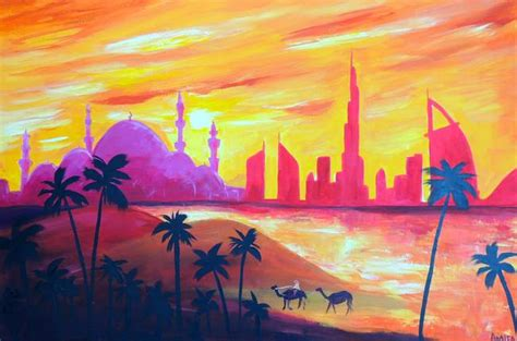 glow in the paint abu dhabi stunning quot burj quot painting reproductions for sale on