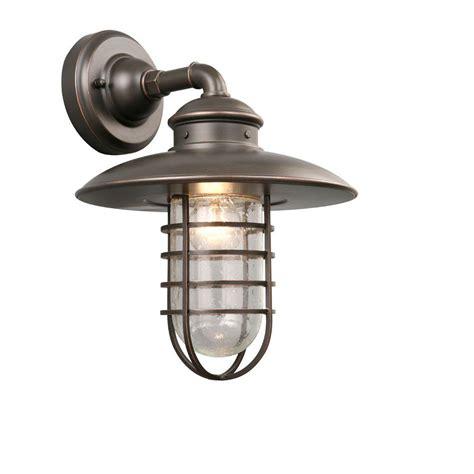 home depot outdoor lights hton bay 1 light rubbed bronze outdoor wall lantern