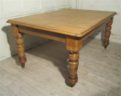 large kitchen tables large rustic pine kitchen table 261205