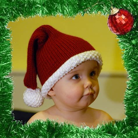 knitted santa hat for baby 1000 images about knitted baby hat on