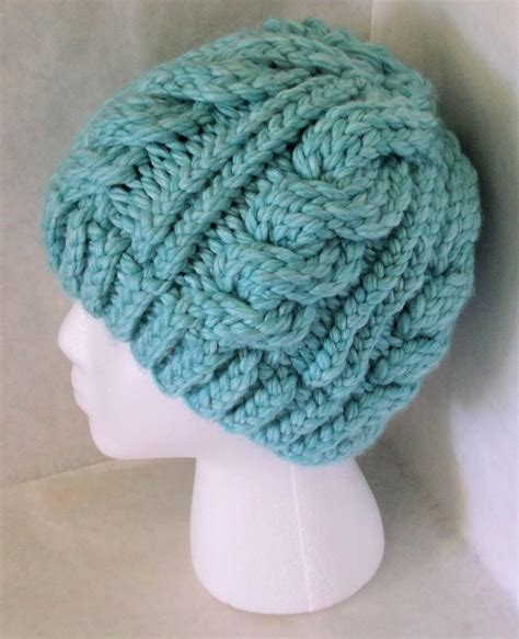loom knitting hat patterns the loom muse chunky cable hat