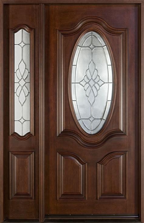 mahogany front door front door custom single with 1 sidelite solid wood